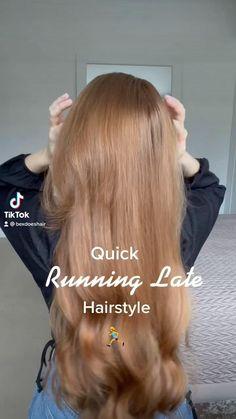 Hairdo For Long Hair, Bun Hairstyles For Long Hair, Summer Hairstyles, Cute Hairstyles, Style Long Hair, Hair Tips Video, Hair Videos, Medium Hair Styles, Curly Hair Styles