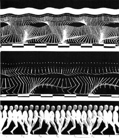 Chronophotograph locomotion study of a man walking, 1870, by Etienne-Jules Marey.