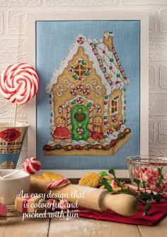 Gingerbread House by Maria Diaz Cross Stitch Collection Issue 255 November 2015 Hardcopy in Folder