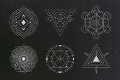 24 Sacred Geometry Vectors by MehmetRehaTugcu on @creativemarket