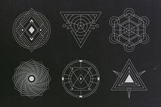 24 Sacred Geometry Vectors by Tugcu Design Co. on @creativemarket