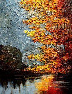 river -by studiounderthemoon -deviantART Landscape Art, Landscape Paintings, Impressionist Paintings, Acrylic Art, Art Techniques, Painting Inspiration, Art Photography, Abstract Art, Canvas Art