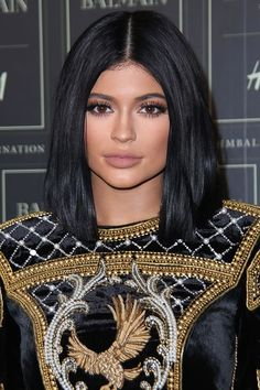 Kylie Jenner showed off her short bob hairstyle on Instagram, but now she has given her new, shorter 'do an outing as she rocked up to the Balmain x H&M event in NYC. See the pictures on GLAMOUR.COM UK.