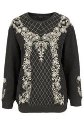 Pearl Embroidered Sweat