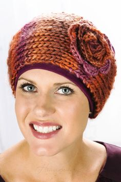 This knitted headband is great for winter wear!