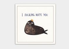 kaa illustrations böse postkarten walross