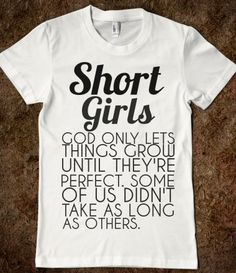 SHORT GIRLS  - glamfoxx.com - Skreened T-shirts, Organic Shirts, Hoodies, Kids Tees, Baby One-Pieces and Tote Bags
