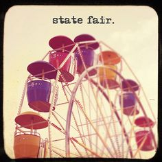 state fair. This old school picture just captures the feel of the fair