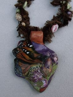 Diana Series - butterfly pendant necklace by Jill Palumbo, via Flickr