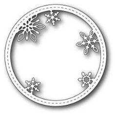 Memory Box Die Stitched Snowflake Circle Frame