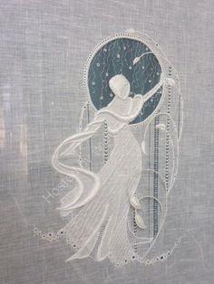 White Lady  So pretty - Royal School of Needlework Portfolio whitework embroidery