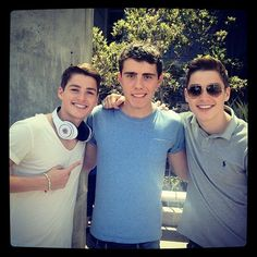 Jack & Finn Harries with Alfie Deyes