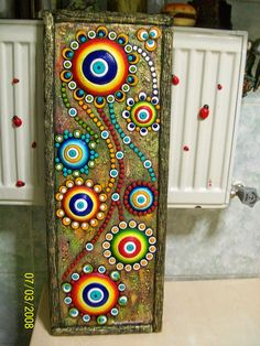 Dekoratif Resimler (Ayşegül Arslan) Kişisel Web Sayfası: ayşegül arslan Tile Art, Clay Art Projects, Art Painting, Dot Painting, Mural Art, Dot Art Painting, Mosaic Art, Canvas Art, Pebble Art