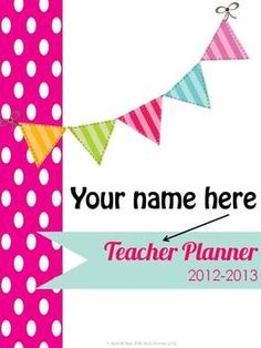 Teacher Planner! very specific to teachers, common core 'at-a-glance' bright pink polka dots $