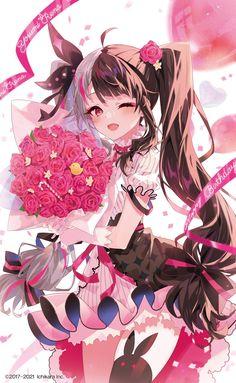 """あるてら on Twitter: """"にじさんじ夜見れなちゃん(@rena_yorumi)の誕生日グッズイラストを描かせていただきました! 明後日から販売開始です!よろしくお願いいたします〜🎉✨… """" Manga Anime Girl, Anime Child, Kawaii Anime Girl, All Anime, Anime Girls, Pretty Anime Girl, Beautiful Anime Girl, Anime Angel, Mini Canvas Art"""