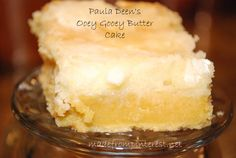 Paula Deen's Ooey Gooey Butter Cake This is the recipe I used for Church Sunday! Added 1 tsp. Coconut extract to the cake batter and after all was cooked and cooled topped it with a container of Cool Whip and a pint of fresh sliced Strawberries...will make this one again!!
