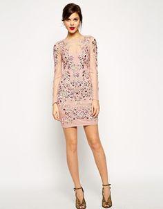 Enlarge ASOS RED CARPET Premium Crystal Cluster Body-Conscious Dress
