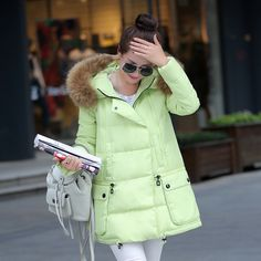 Fasicat 2015 Women Winter Mid Long Thick Warm Jackets Brand Outdoor Parkas Fur Collar Hooded Pockets Zipper Wadded Coats 180186-in Down & Parkas from Women's Clothing & Accessories on Aliexpress.com | Alibaba Group $99