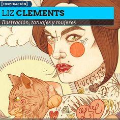 Ilustración. Tatuajes, mujeres y arte de LIZ CLEMENTS.  Dibujo e ilustración en lápices de color desde Londres.    Leer más: http://www.colectivobicicleta.com/2013/03/Ilustracion-de-LIZ-CLEMENTS.html#ixzz2MP5EJDAa