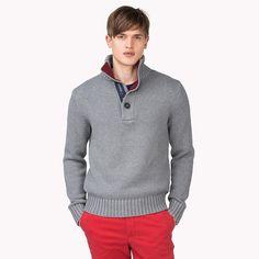 Maglia Gerald di Tommy Hilfiger - silver fog htr (Grey) - Pullover di Tommy Hilfiger #TommyHilfiger #fashion #grey #cotton #cool #sporty #americanstyle