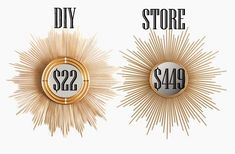 So I've been drooling over this sunburst mirror for a few years now. All the mirrors that I like are way out of my price range {such as...