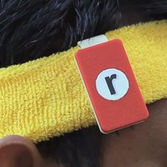 This Clip-On device, attached to your headband or the collar of your shirt, works with an e-reader app on your tablet to track the movements of your head and shoulders lets you read your Tablet while you run.