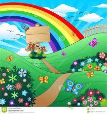 Paisaje infantil con arcoiris dibujos pinterest irises for Plano b mobilia