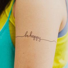 Tattly Be Happy Tattoo