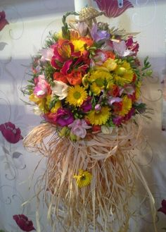 lumanare botez Baptism Decorations, Table Decorations, Christening, Floral Arrangements, Floral Wreath, Wreaths, Candles, Wedding, Ideas