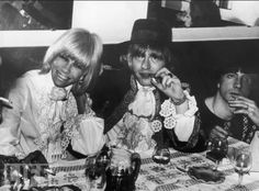 Anita Pallenberg and Rolling Stones guitarist Brian Jones attend a party in Cannes on May 6, 1967. That year, Pallenberg left Jones for bandmate Keith Richards while on holiday in Morocco. Photo: Keystone/Getty Images