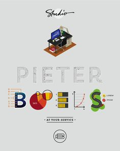 At your service by Pieter Boels, via Behance
