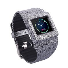 Moretek Silicone strap for Fitbit Blaze Wrist Replacement Band Smart Watch Fitness Strap Accessory Yun *** Want to know more, click on the image.