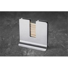 Zack 20147 Contas Toothpick Holder- Stainless Steal