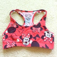 Minnie Mouse Sports Bra Minnie Mouse sports bra worn once. True to size and is cute and comfortable ! Intimates & Sleepwear Bras