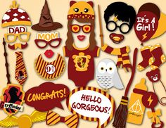 Printable Harry Potter Baby Shower Photo Booth by TracyPartyDesign