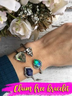 Mix and match stacking bracelets to personalize your jewelry style. Free bracelet.