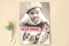 Proud Adoption Birth Announcements by Candace McRa... | Minted - super cute announcement for adoption