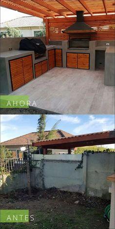 40 gorgeous patio deck design ideas to inspire you 5 « Home Decoration Outdoor Barbeque, Outdoor Kitchen Patio, Outdoor Kitchen Design, Pergola Patio, Backyard Patio Designs, Backyard Landscaping, Parrilla Exterior, Terrace Design, House