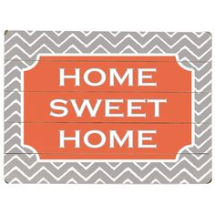 I pinned this Home Sweet Home Wall Art from the Fluffed, Folded & Fantastic event at Joss and Main!