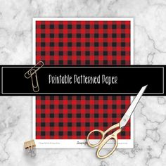 Buffalo Plaid Free Printable Patterned Paper - #Scrapcraftastic #buffaloplaidprintable #patternpaper
