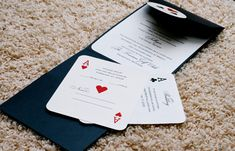 If you are ordering a SAMPLE please convo me for a coupon to save on shipping. Also, please note that samples are not personalized. Pocket fold invites are the classic way to hold the event information for your guests. This set is a GORGEOUS Vegas poker theme. This set features