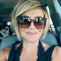 Side Swept Short Blonde Bob Hairstyle