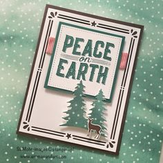 It arrived! The new Carols of Christmas stamp set. I couldn't wait to try it out with the Card Front Builder Thinlits Dies. My first card for the holiday season was born.  I was anxious to try this die cut border, so grabbed a piece of 4″ X 5 1/4″ Whisper White card stock. …
