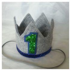Birthday Crown Headband  Birthday Crown cake by Kutiebowtuties