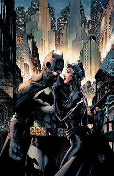 This HUSH Batman and Catwoman limited edition giclee on paper by Jim Lee is from the cover of Batman Hush: Anniversary Deluxe Edition. Batgirl, Batman Und Catwoman, Jim Lee Batman, Robin Batman, Harley Quinn, Heros Comics, Dc Heroes, Batman Poster, Batman Art