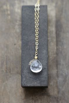 Rutilated+Quartz+Necklace+Long+Layering+by+AmuletteJewelry+on+Etsy