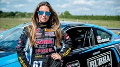 Cool jobs in sports -- Race car driver Shea Holbrook Female Race Car Driver, Car And Driver, Women Drivers, Lauren Alaina, Girl Senior Pictures, Drag Racing, Auto Racing, Female Images, Fitness Wear