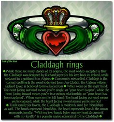 I love the claddaugh ring story
