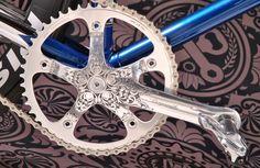 pédalier campagnolo custom / L'Atelier des vélo
