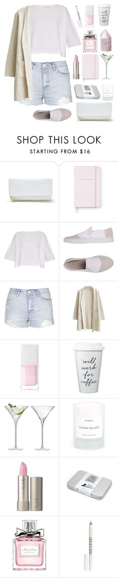 """Summer Pastel"" by rever-de-paris ❤ liked on Polyvore featuring GUESS, Kate Spade, Helmut Lang, 6397, Topshop, Christian Dior, LSA International, Byredo, Ilia and Lord & Berry"